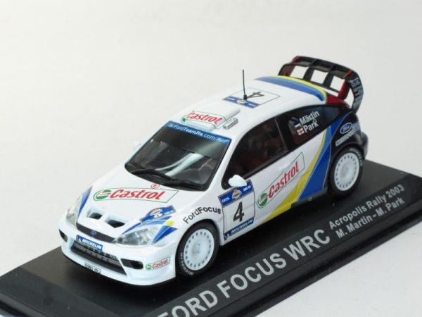 Ford Focus WRC #4 Acropolis Rally 2003 (DeAgostini Rally Car Collection (by IXO)) [1998г., Белый, 1:43]