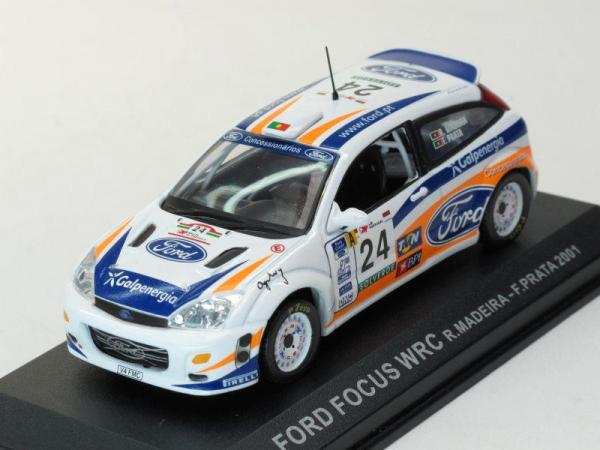 Ford Focus WRC #24 R.Madiera-F.Prata 2001 (DeAgostini Rally Car Collection (by IXO)) [1998г., Белый, 1:43]