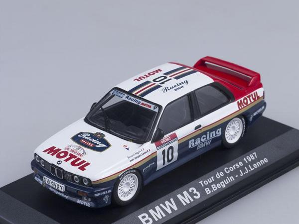 BMW M3, Tour de Corse, B.Beguin- J.J. Lenne 1987 #10 (DeAgostini Rally Car Collection (by IXO)) [1986г., Белый с синим, 1:43]