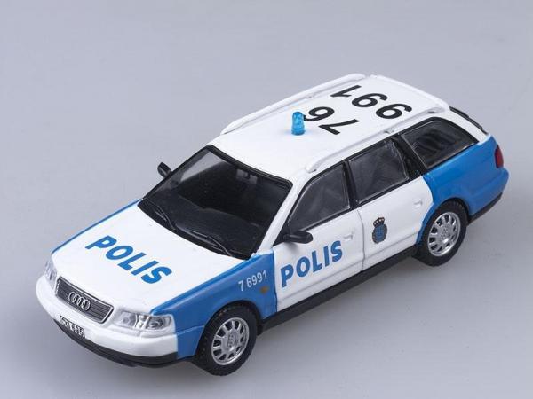Audi A6 Аvant, Полиция Швеции (DeAgostini (Полицейские машины мира)) [1994г., Белый с синим, 1:43]
