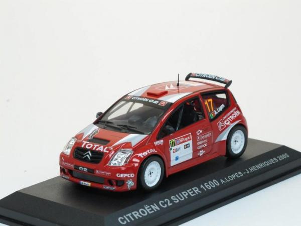 Citroen C2 SUPER 1600 #17 A. LOPES 2005 (DeAgostini Rally Car Collection (by IXO)) [2003г., Красный, 1:43]