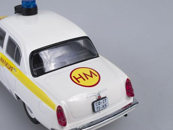 ГАЗ-21 Волга, Полиция Болгарии (DeAgostini (Полицейские машины мира)) [1956г., Белый с желтым, 1:43]