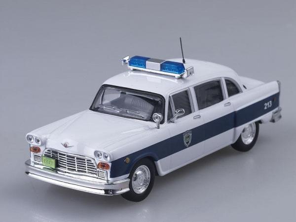 Checker Marathon Полиция города Эксетер, США (DeAgostini (Полицейские машины мира)) [1961г., Белый с синим, 1:43]