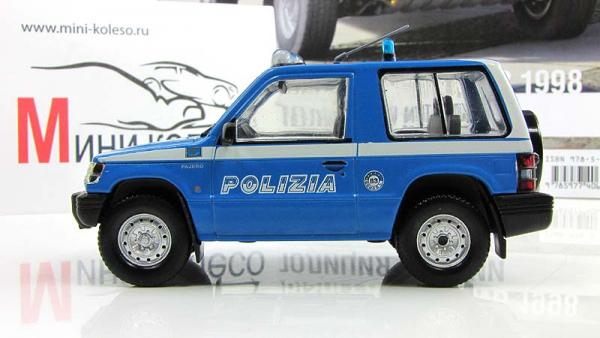 Mitsubishi Pajero SWB, Полиция Италии (DeAgostini (Полицейские машины мира)) [1997г., Голубой с белым, 1:43]