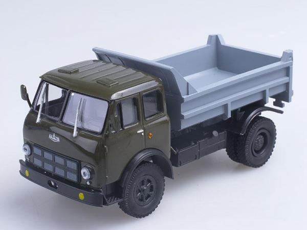 МАЗ-503А самосвал (Наш Автопром) [1970г., Кабина хаки с серым кузовом, 1:43]