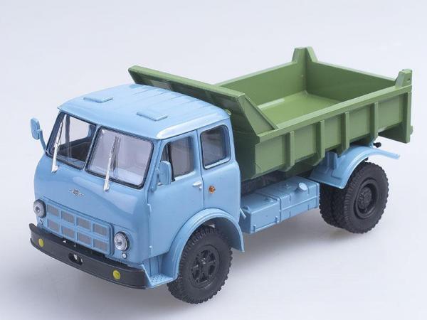 МАЗ-503А самосвал (Наш Автопром) [1970г., Голубая кабина с зеленым кузовом, 1:43]