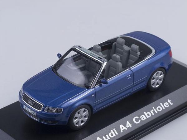 Audi A4 Cabriolet (Norev) [2004г., Темно-синий металлик, 1:43]
