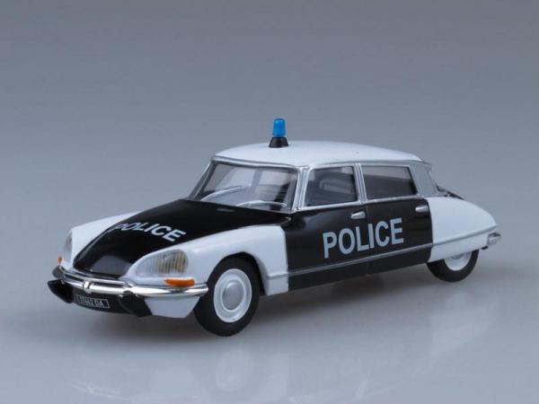 Citroen DS21, Полиция Франции (DeAgostini (Полицейские машины мира)) [1965г., Белый и черный, 1:43]