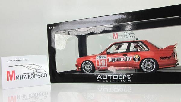 "BMW M3 DTM ""JAGERMEISTER"" HAHNE №19 (Autoart) [1991г., Оранжевый, 1:18]"