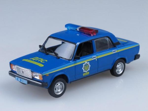 Ваз-2107 Милиция Украины (DeAgostini (Полицейские машины мира)) [1982г., Синий, 1:43]