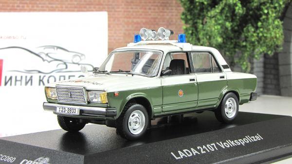 ВАЗ-2107 Volkspolizei polizei (IST Models) [1982г., Белый и зеленый, 1:43]