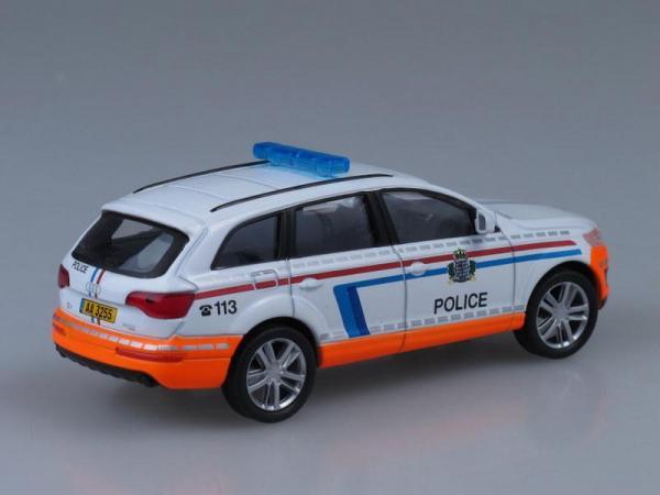 Audi Q7, Полиция Люксембурга (DeAgostini (Полицейские машины мира)) [2005г., Белый и оранжевый, 1:43]