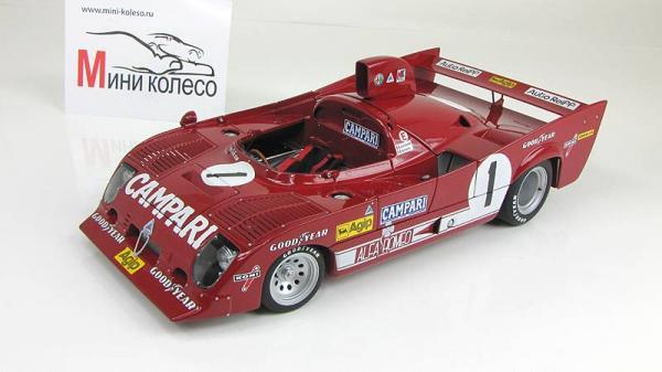 ALFA ROMEO 33 TT 12 1000km NURBURGRING WINNER 1975 MERZARIO/LAFITTE #1 (Autoart) [1975г., Красный, 1:43]