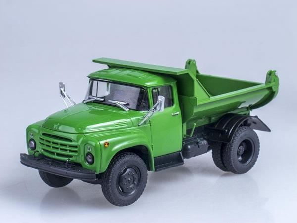 ЗИЛ-ММЗ-555 самосвал (поздняя облицовка радиатора) (Автоистория (АИСТ)) [1979г., Зеленый, 1:43]
