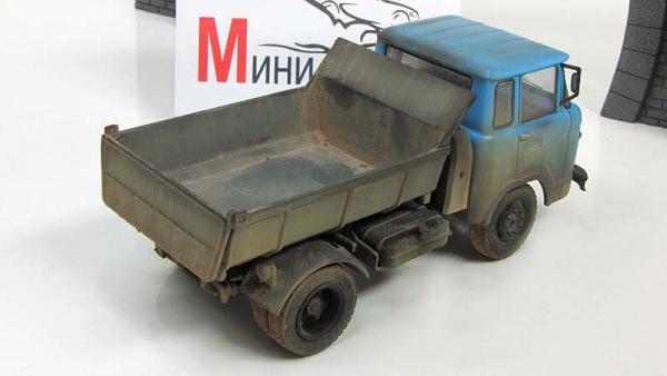 """КАЗ-608 """"Колхида"""", запыленный (мастер Колёсов) [1958г., Голубой, 1:43]"""