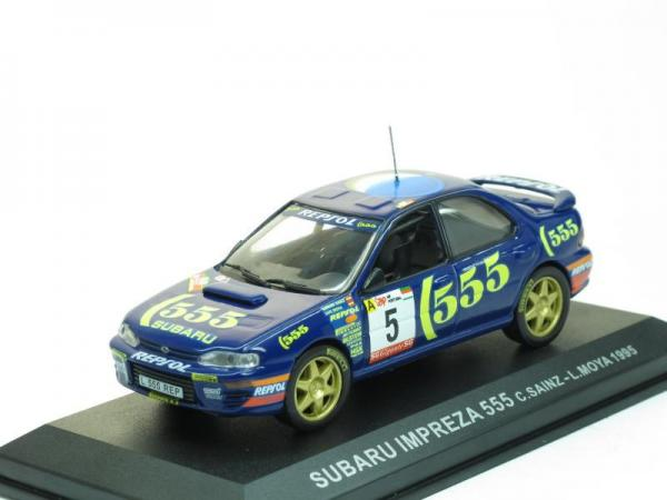 Subaru Impreza 555 #5 C. Sainz (DeAgostini Rally Car Collection (by IXO)) [1993г., Синий, 1:43]