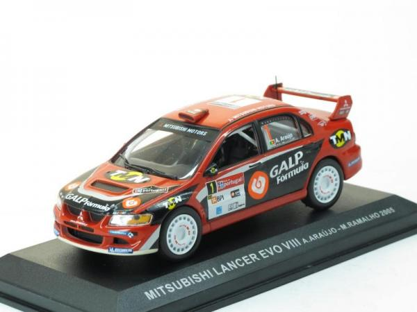 Mitsubishi Lancer EVO VIII, 2005 #1 (DeAgostini Rally Car Collection (by IXO)) [2003г., Красный с черным, 1:43]
