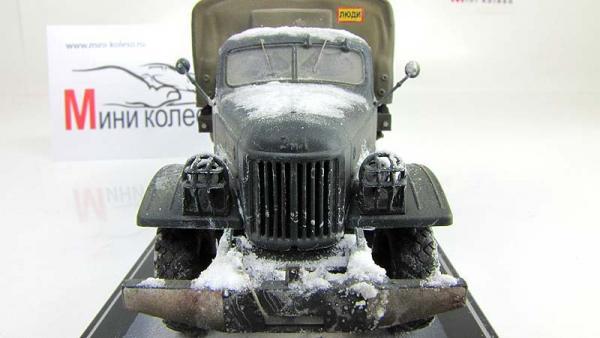 ЗиЛ-157 бортовой с тентом, зимний (мастер Колёсов) [1960г., Зимний камуфляж, 1:43]