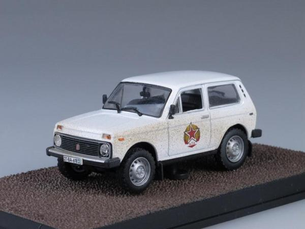 Lada Niva (ВАЗ-2121), The World Is Not Enough (The James Bond Car Collection (Автомобили Джеймса Бонда)) [1977г., Белый, 1:43]