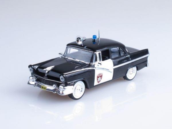 Ford Fairlane Town, Полиция Детройта, США (DeAgostini (Полицейские машины мира)) [1956г., Черный и белый, 1:43]