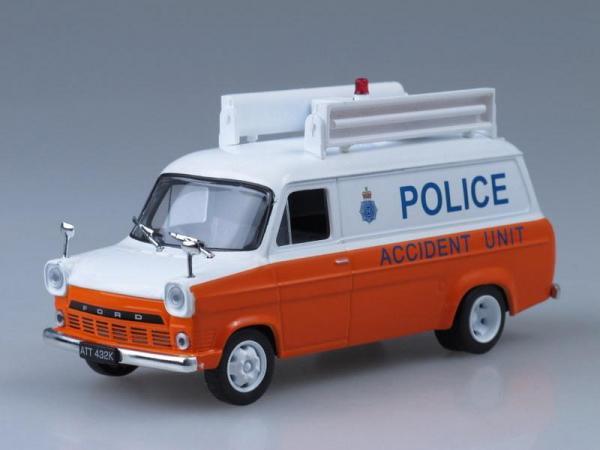 Ford Transit MK1, Полиция Великобритании (DeAgostini (Полицейские машины мира)) [1973г., Белый и оранжевый, 1:43]