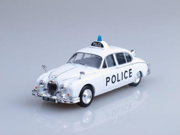 Jaguar Mark II, Полиция Великобритании (DeAgostini (Полицейские машины мира)) [1959г., Белый, 1:43]