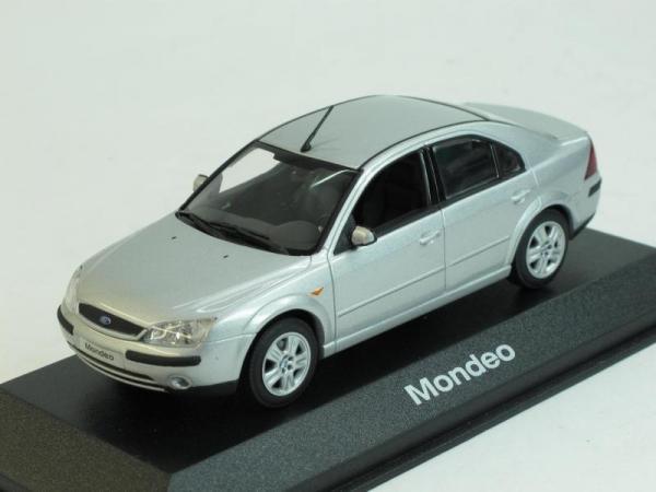 Ford Mondeo Sedan (Minichamps) [2001г., Серебристый металлик, 1:43]