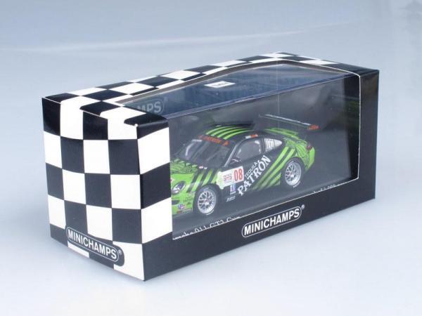 Porsche 911 (997) GT3 Cup No.08, IMSA GT3 Challenge Brown 2009 (Minichamps) [2009г., Черный и зеленый, 1:43]