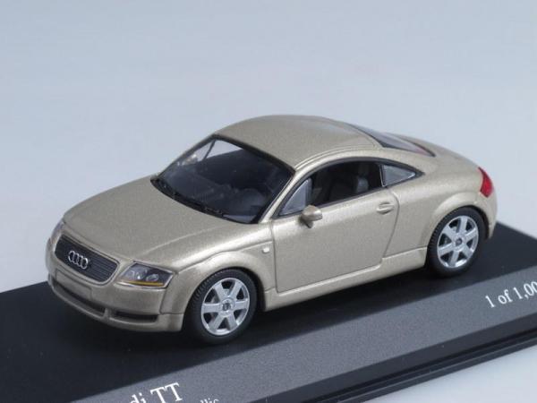 Audi TT Coupe (Minichamps) [1999г., Бежевый металлик, 1:43]