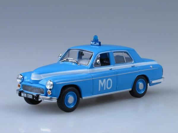 Warszawa 223, Полиция Польши (DeAgostini (Полицейские машины мира)) [1951г., Голубой, 1:43]