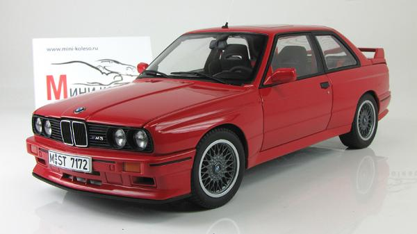 BMW E30 M3 SPORT EVOLUTION (Autoart) [1982г., Красный, 1:18]