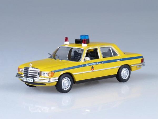 Mercedes-Benz W116, Милиция СССР (DeAgostini (Полицейские машины мира)) [1972г., Лимонный с синей полосой, 1:43]