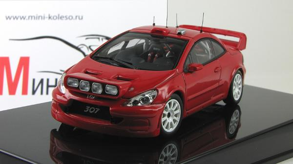 PEUGEOT 307 WRC 2005 PLAIN BODY VERSION (Autoart) [2005г., красный/белый, 1:43]