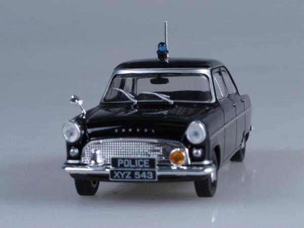 Ford Consul II, Полиция Англии (DeAgostini (Полицейские машины мира)) [1956г., Черный, 1:43]
