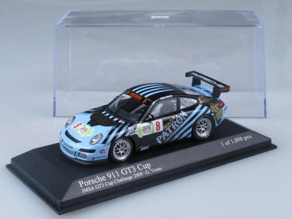 Porsche 911 (997) GT3 Cup No.8, IMSA GT3 Challenge Vento 2009 (Minichamps) [2009г., Черный и голубой, 1:43]