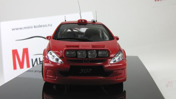 PEUGEOT 307 WRC 2005 PLAIN BODY VERSION (Autoart) [2005г., красный/белый, 1:43]