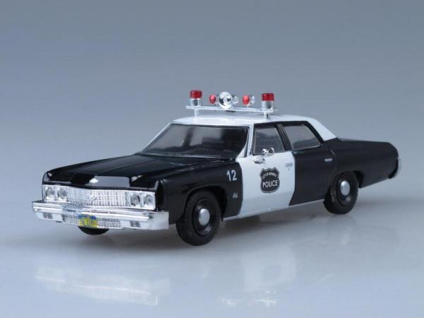 Chevrolet Bel Air, Полиция города Норвич, США (DeAgostini (Полицейские машины мира)) [1971г., Черный и белый, 1:43]