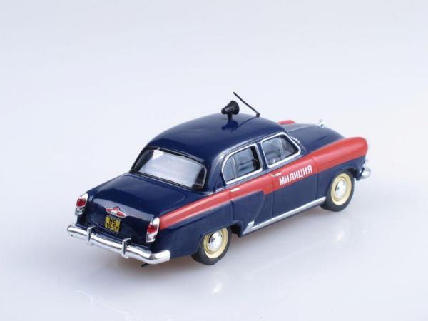 ГАЗ-21, Милиция СССР (DeAgostini (Полицейские машины мира)) [1956г., Темно-синий с красной полой, 1:43]