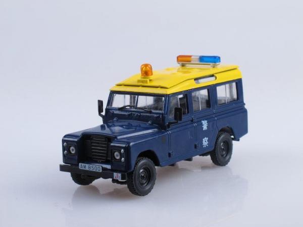 Land Rover 110 Long, Полиция Гонконга (DeAgostini (Полицейские машины мира)) [1989г., Темно-синий с желтой крышей, 1:43]