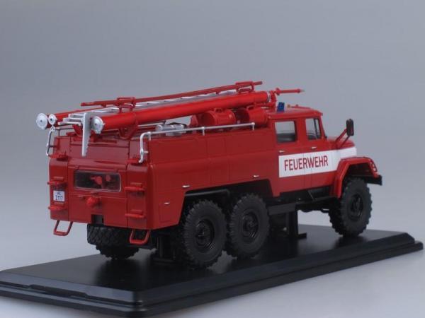 АЦ-40 (ЗиЛ-131)-137, Freiwilige Feuerwehr Treuen (Start Scale Models (SSM)) [1970г., Красный с белыми полосами, 1:43]