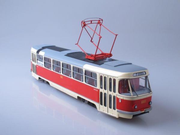 """Татра"" Т-3 (М103) Москва (Vector-Models) [1967г., Бежевый с красным, 1:43]"