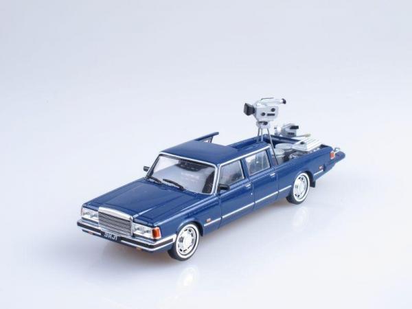 ЗИЛ 4104 киносъемочная (Vector-Models) [1978г., Синий, 1:43]