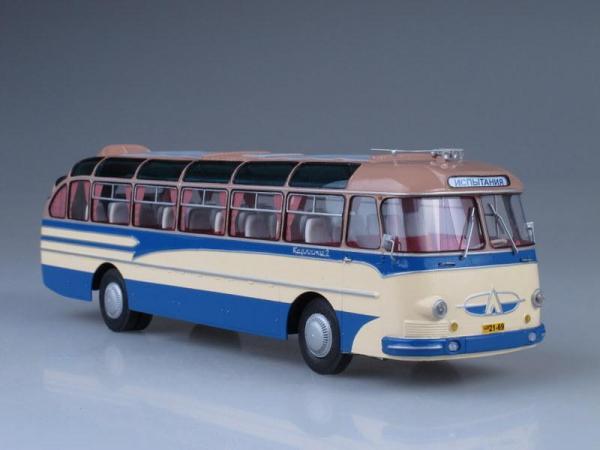 """ЛАЗ-699 """"Карпаты-2"""" (Vector-Models) [1964г., Кремовый и голубой, 1:43]"""