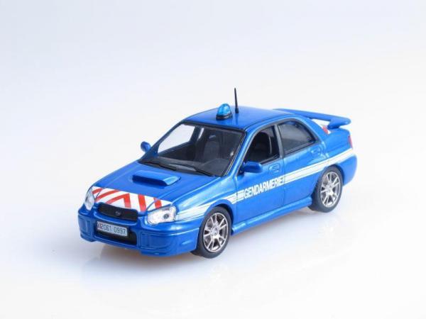 Subaru Impreza, Полиция Франции (DeAgostini (Полицейские машины мира)) [2000г., Синий, 1:43]