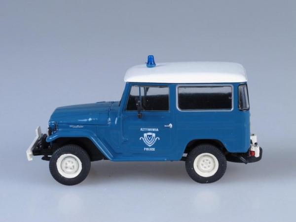 Toyota Land Cruiser FJ40, Полиция Греции (DeAgostini (Полицейские машины мира)) [1960г., Темно-голубой, 1:43]