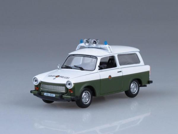Trabant Kombi, Народная полиция ГДР (DeAgostini (Полицейские машины мира)) [1963г., Белый и хаки, 1:43]