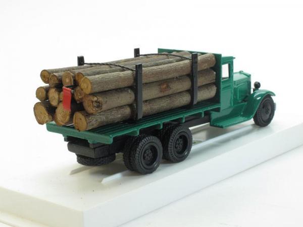 ЗИС-5 (6х2) Грузовик для перевозки леса с третьей подкатной осью (ЛОМО-АВМ) [1933г., Зеленый, 1:43]