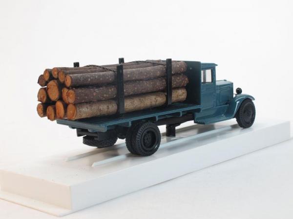 ЗИС-12 Грузовик для перевозки леса (ЛОМО-АВМ) [1933г., Темно-голубой, 1:43]