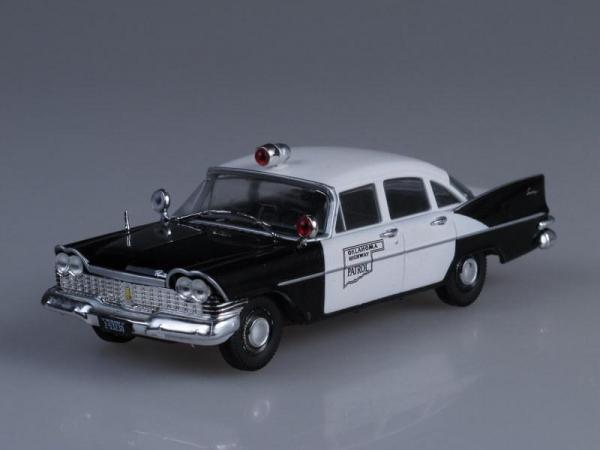 Plymouth Savoy, Полиция штата Оклахома, США (DeAgostini (Полицейские машины мира)) [1954г., Черный и белый, 1:43]