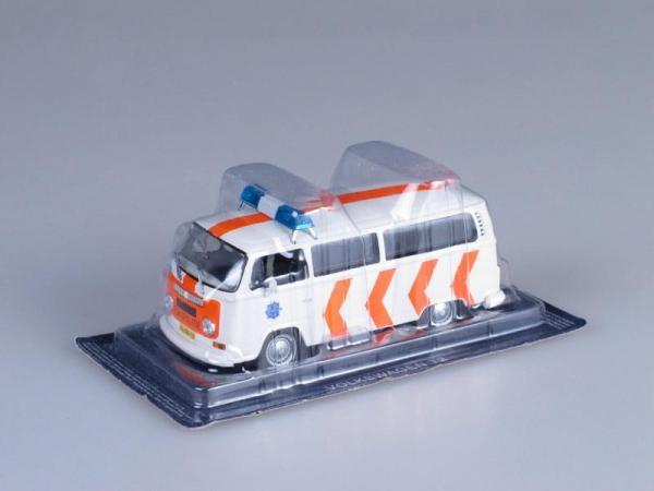 Volkswagen Transporter T2, Полиция Нидерландов (DeAgostini (Полицейские машины мира)) [1967г., Белый и оранжевый, 1:43]